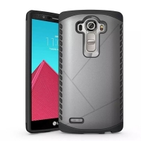 Hybrid Combo Aegis Armor Case Cover for LG G4 H815 (Grey)