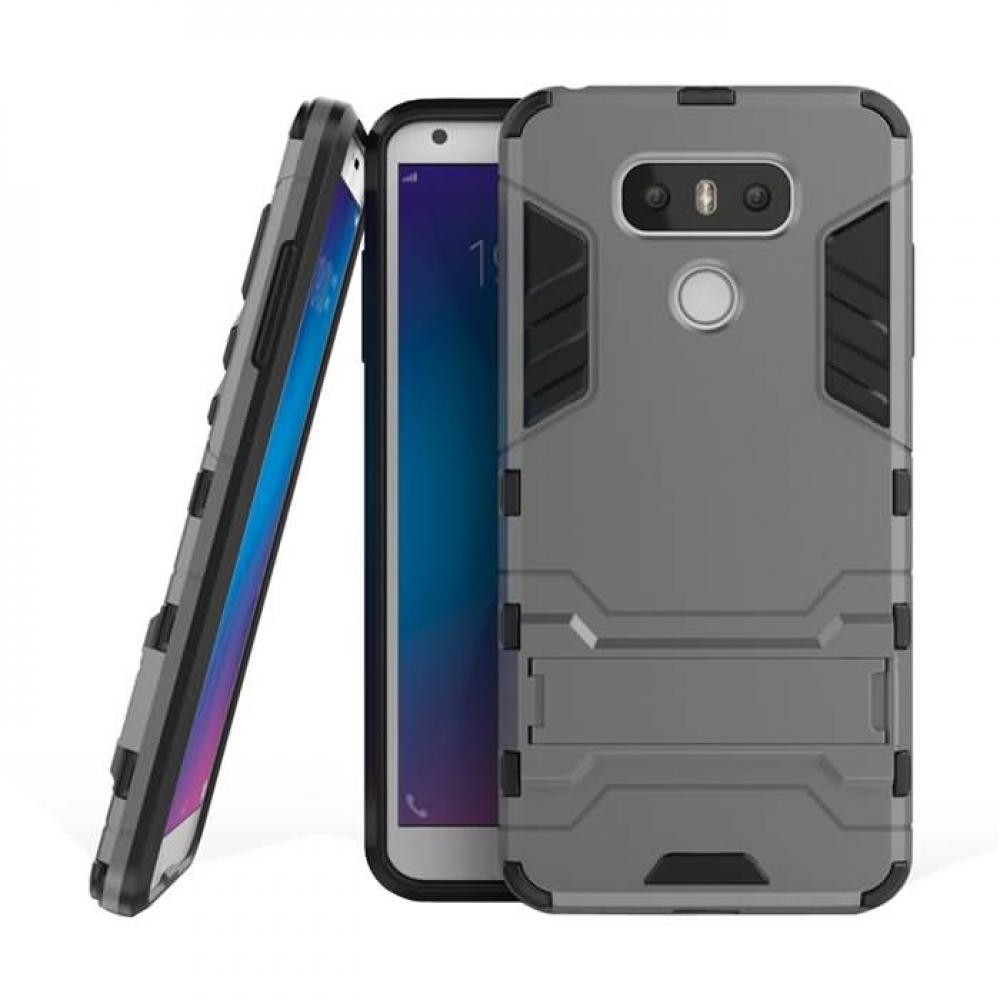 LG G6 Tough Armor Protective Case (Grey)