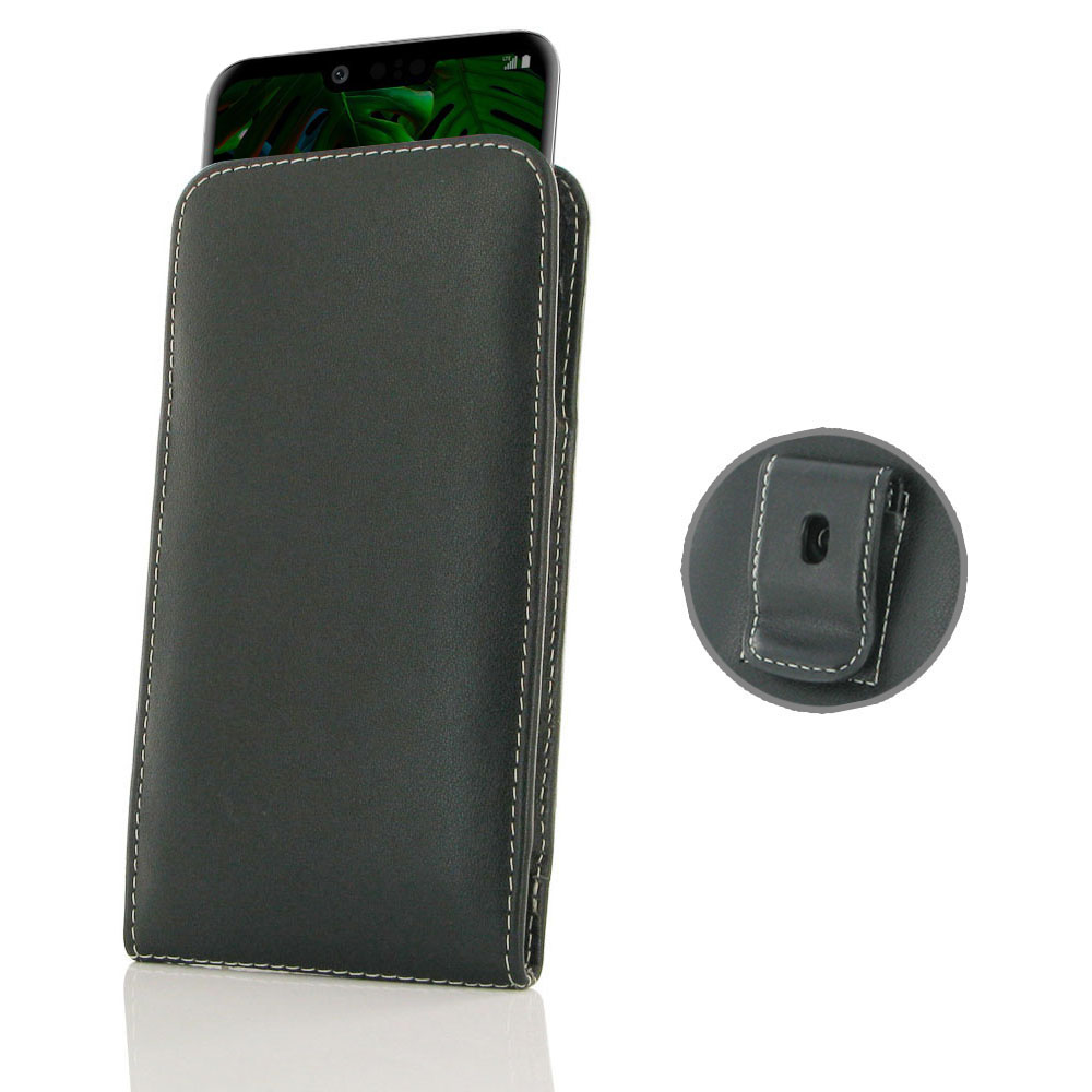 10% OFF + FREE SHIPPING, Buy the BEST PDair Handcrafted Premium Protective Carrying LG G8 ThinQ Pouch Case with Belt Clip. Exquisitely designed engineered for LG G8 ThinQ.