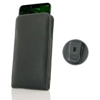 Leather Vertical Pouch Belt Clip Case for LG G8 ThinQ