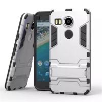 LG Google Nexus 5X Tough Armor Protective Case (Silver)