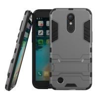 LG K10 (2017) Tough Armor Protective Case (Grey)