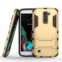 LG K10 Tough Armor Protective Case (Gold) :: PDair