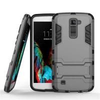LG K10 Tough Armor Protective Case (Grey) :: PDair