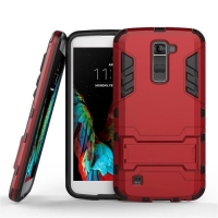 LG K10 Tough Armor Protective Case (Red) :: PDair
