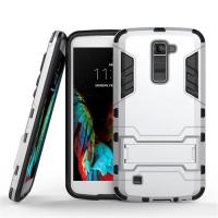 LG K10 Tough Armor Protective Case (Silver) :: PDair