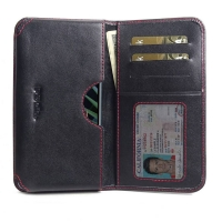 10% OFF + FREE SHIPPING, Buy the BEST PDair Handcrafted Premium Protective Carrying LG K40 Leather Wallet Sleeve Case (Red Stitch). Exquisitely designed engineered for LG K40.