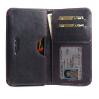 10% OFF + FREE SHIPPING, Buy the BEST PDair Handcrafted Premium Protective Carrying LG K50 Leather Wallet Sleeve Case (Red Stitch). Exquisitely designed engineered for LG K50.