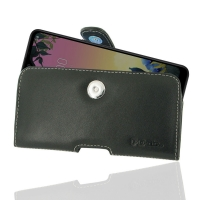 Leather Horizontal Pouch Case with Belt Clip for LG K50S