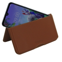 10% OFF + FREE SHIPPING, Buy the BEST PDair Handcrafted Premium Protective Carrying LG Q60 Leather Wallet Pouch Case (Brown). Exquisitely designed engineered for LG Q60.