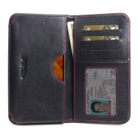 10% OFF + FREE SHIPPING, Buy the BEST PDair Handcrafted Premium Protective Carrying LG Q8 (2018) Leather Wallet Sleeve Case (Red Stitch). Exquisitely designed engineered for LG Q8 (2018).