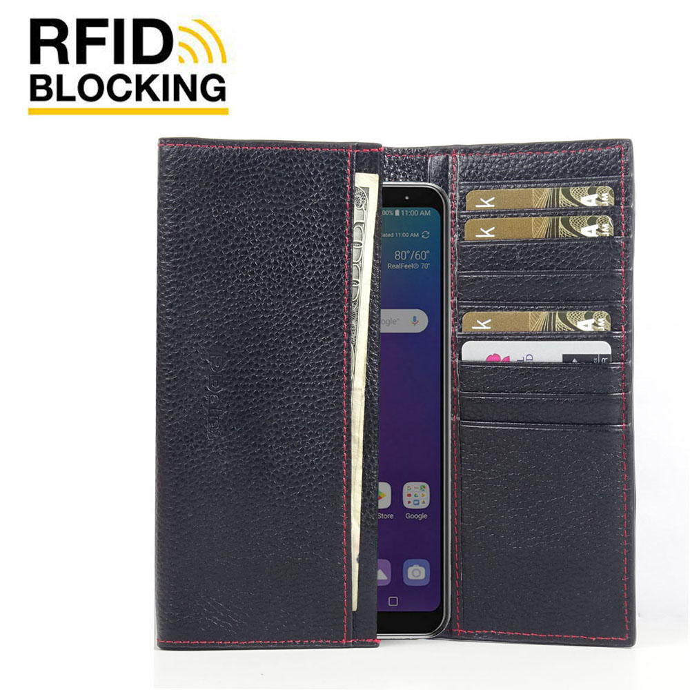 10% OFF + FREE SHIPPING, Buy the BEST PDair Handcrafted Premium Protective Carrying LG Stylo 5 Leather Continental Sleeve Wallet (Red Stitching). Exquisitely designed engineered for LG Stylo 5.