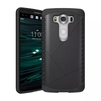 Hybrid Combo Aegis Armor Case Cover for LG V10 (Black)