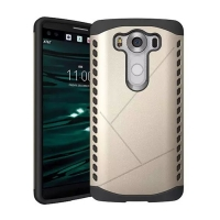 Hybrid Combo Aegis Armor Case Cover for LG V10 (Gold)