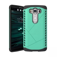 Hybrid Combo Aegis Armor Case Cover for LG V10 (Green)