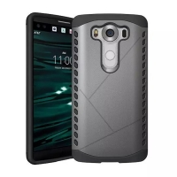 Hybrid Combo Aegis Armor Case Cover for LG V10 (Grey)