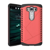 Hybrid Combo Aegis Armor Case Cover for LG V10 (Pink)