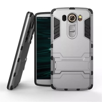 LG V10 Tough Armor Protective Case (Grey)