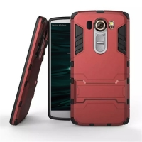 LG V10 Tough Armor Protective Case (Red)