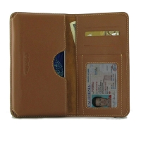 Leather Card Wallet for LG V50 ThinQ 5G (Brown)