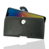 Leather Horizontal Pouch Case with Belt Clip for LG W10
