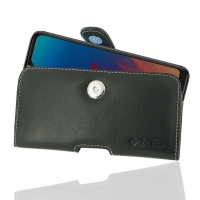 Leather Horizontal Pouch Case with Belt Clip for LG W30 Pro