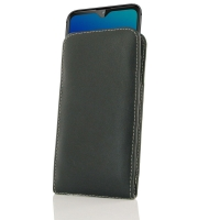 Leather Vertical Pouch Case for LG W30 Pro