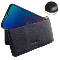 10% OFF + FREE SHIPPING, Buy the BEST PDair Handcrafted Premium Protective Carrying LG W30 Pro Leather Wallet Pouch Case (Red Stitch). Exquisitely designed engineered for LG W30 Pro.