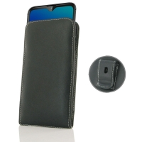 Leather Vertical Pouch Belt Clip Case for LG W30 Pro