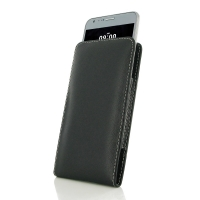 LG X cam Leather Sleeve Pouch Case PDair Premium Hadmade Genuine Leather Protective Case Sleeve Wallet