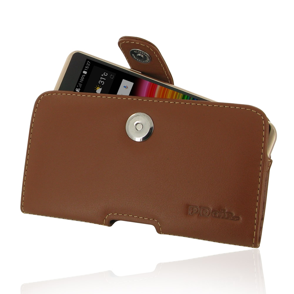 huge discount 56178 6e93c LG X Power Leather Holster Case (Brown) :: PDair Sleeve Pouch
