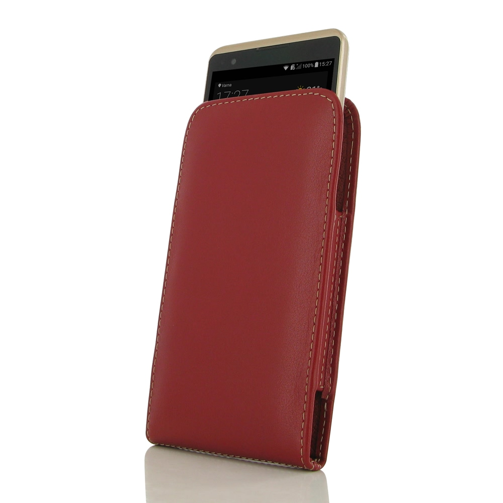 new style 757ab ad89a LG X Power Leather Sleeve Pouch Case (Red) :: PDair Sleeve Holster