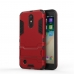 LG K10 (2017) Tough Armor Protective Case (Red) custom degsined carrying case by PDair