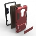 LG G4 Tough Armor Protective Case (Red) genuine leather case by PDair