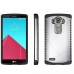 LG G4 Hybrid Combo Aegis Armor Case Cover (Silver) protective carrying case by PDair