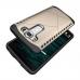 LG V10 Hybrid Combo Aegis Armor Case Cover (Black) handmade leather case by PDair