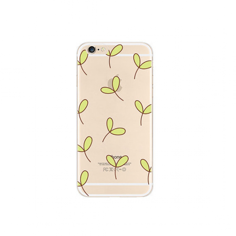 10% OFF + FREE SHIPPING, Buy PDair iPhone Pattern Printed Soft Clear Case Little Leaf Pattern which is available for iPhone 5 | iPhone 5s SE 6 6s, iPhone 6 Plus | iPhone 6s Plus. You also can go to the customizer to create your own stylish leather case if