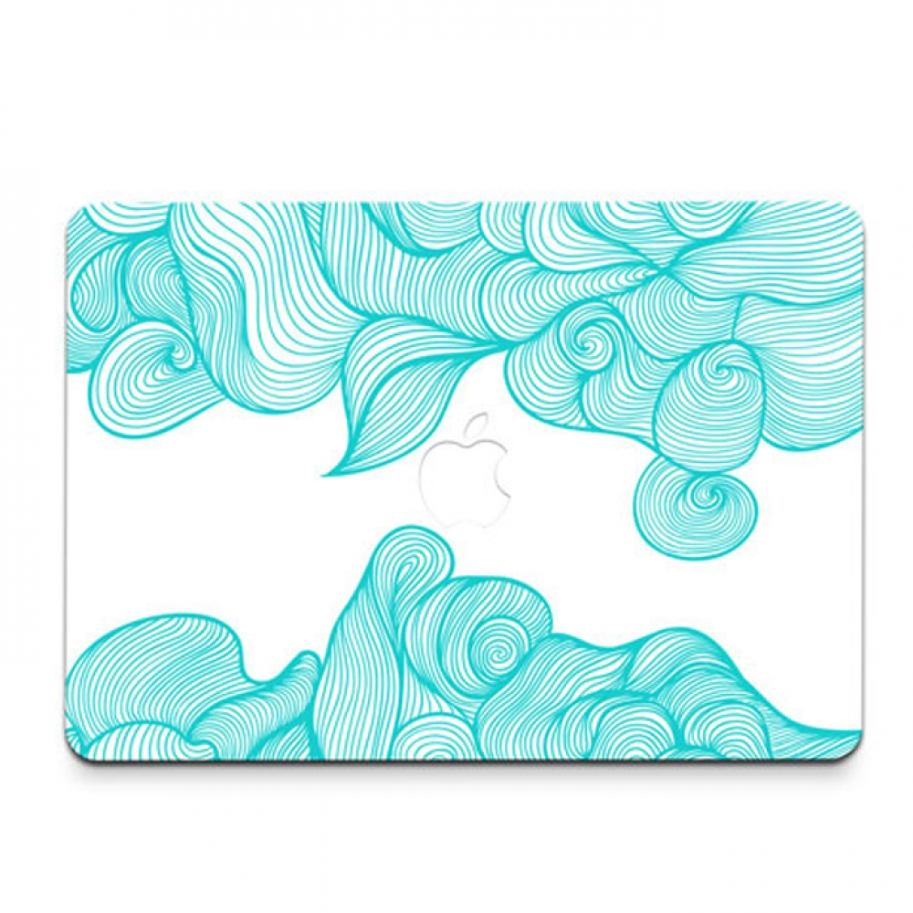 10% OFF + FREE SHIPPING, Buy PDair MacBook Air Pro Decal Skin Set (Art 001 Aqua) which is availble for MacBook 12