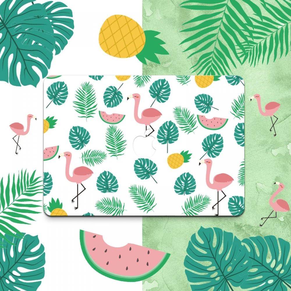 10% OFF + FREE SHIPPING, Buy PDair MacBook Air Pro Decal Skin Set Colorful Flamingo Pattern which is availble for MacBook 12
