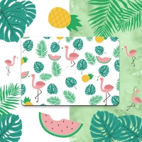 Decal Skin Set for Apple MacBook Air Pro (Colorful Flamingo Pattern)