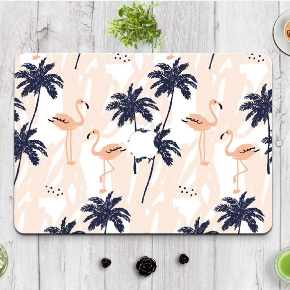 10% OFF + FREE SHIPPING, Buy PDair MacBook Air Pro Decal Skin Set Flamingo Forest Pattern which is availble for MacBook 12