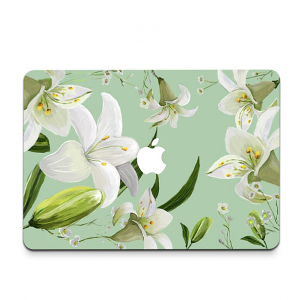 10% OFF + FREE SHIPPING, Buy PDair MacBook Air Pro Decal Skin Set (Lily Flower) which is availble for MacBook 12