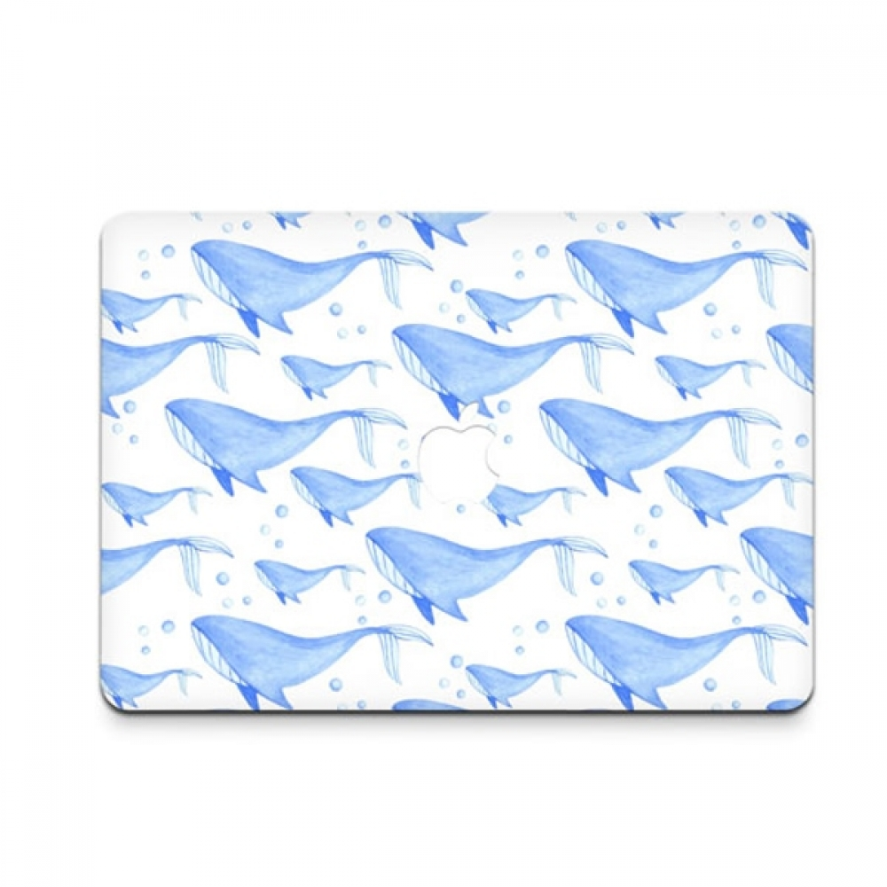 10% OFF + FREE SHIPPING, Buy PDair MacBook Air Pro Decal Skin Set (Whale Pattern) which is availble for MacBook 12