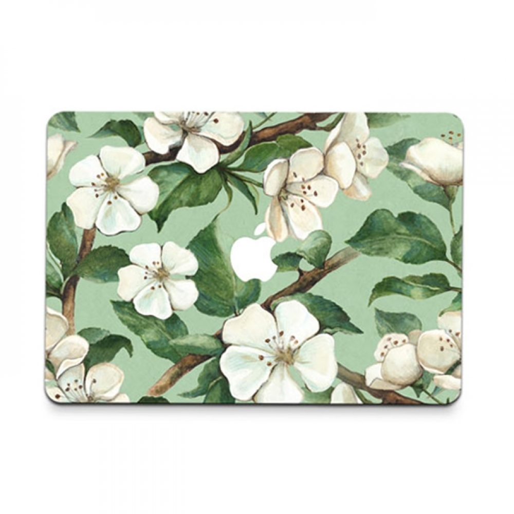 10% OFF + FREE SHIPPING, Buy PDair MacBook Air Pro Decal Skin Set (White Flower) which is availble for MacBook 12