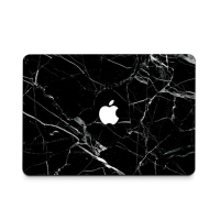 Decal Skin Set for Apple MacBook Air Pro (Black Marble)
