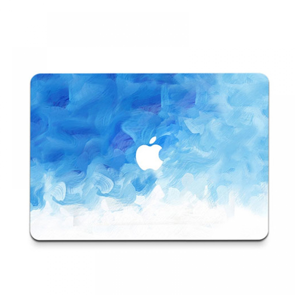 10% OFF + FREE SHIPPING, Buy PDair MacBook Air Pro Decal Wrap Skin Set (Blue Paint Cloud) which is availble for MacBook 12