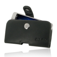 Leather Horizontal Pouch Case with Belt Clip for MEIZU U10
