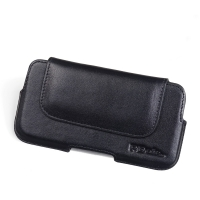 Luxury Leather Holster Pouch Case for MEIZU U10 (Black Stitch)