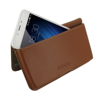 Leather Wallet Pouch for MEIZU U10 (Brown)