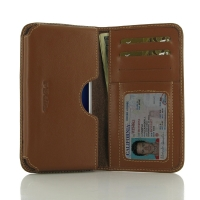 Leather Card Wallet for MEIZU U10 (Brown)